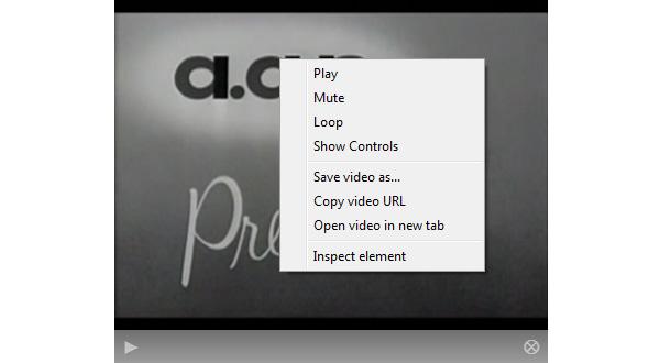 The Video Element's Context Menu