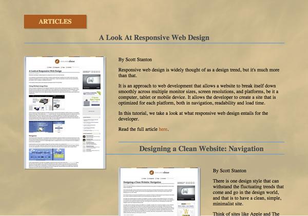 Developing A Responsive Website Part 4 Finishing The Homepage Portfolio Slider Developer Drive