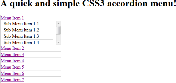 A quick and simple CSS3 accordion menu! - Developer Drive