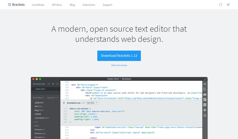 Brackets Source Code Editor