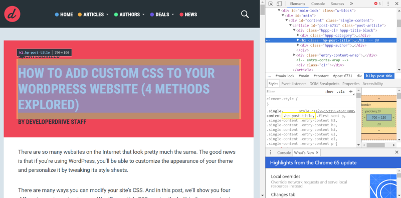 how to add custom css to wordpress site