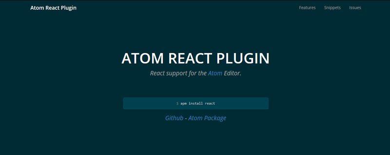 Atom React Plugin
