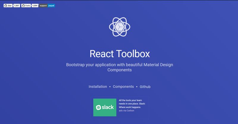 React Toolbox
