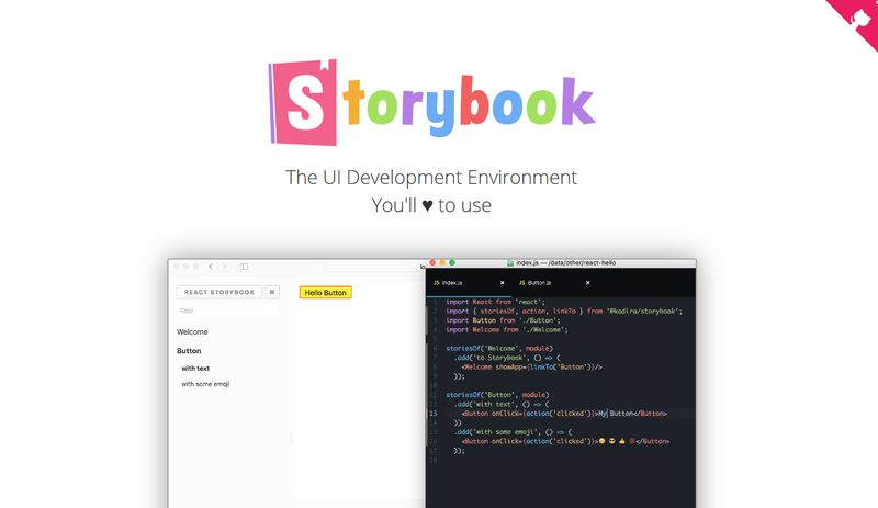 Storybook for React
