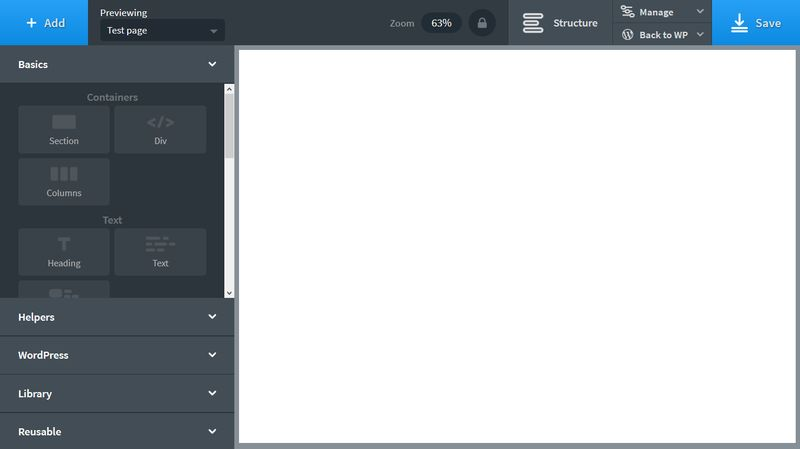 Oxygen Site Builder Blank Canvas
