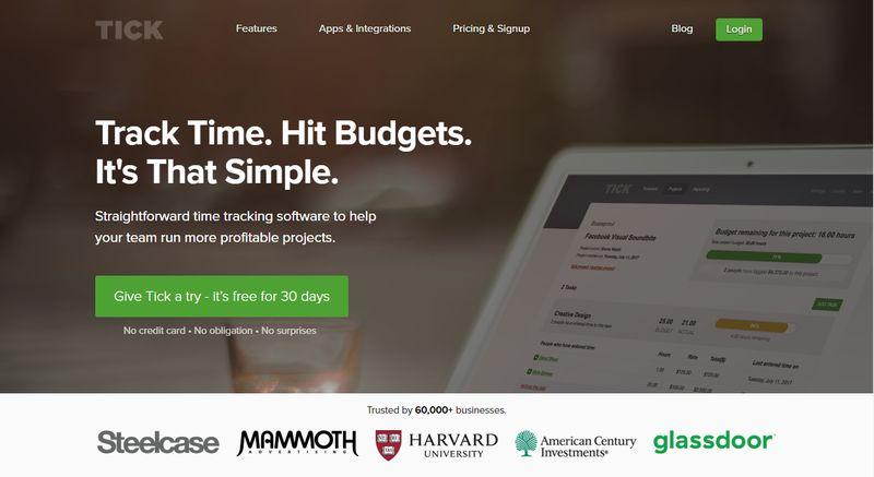 Tick Time Tracker App