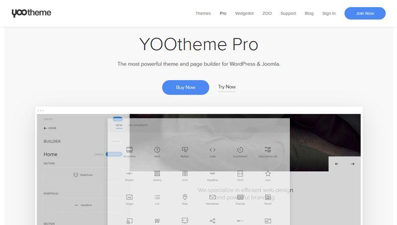 YOOtheme Pro Homepage