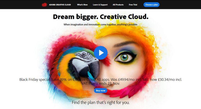 Adobe Creative Cloud Black Friday 2018