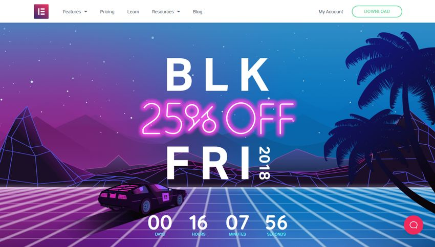Elementor Black Friday 2018