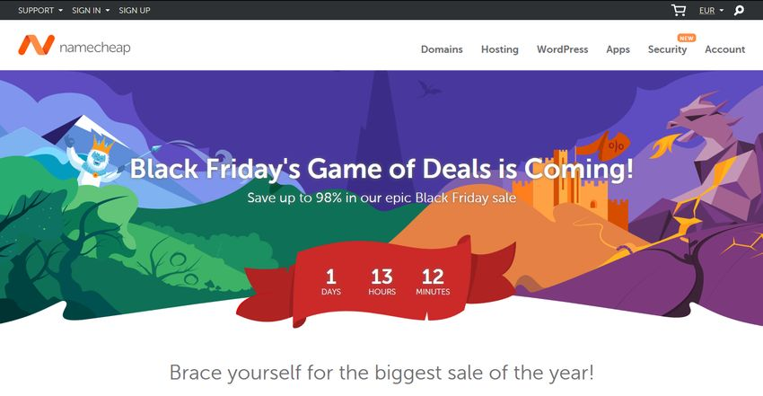 NameCheap Black Friday 2018