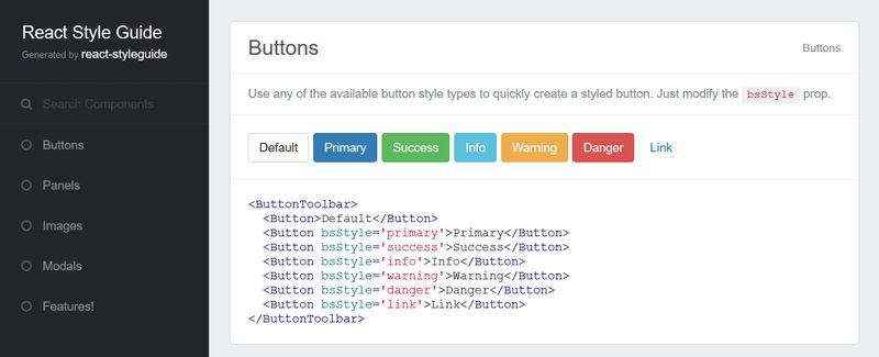 React Style Guide Generator