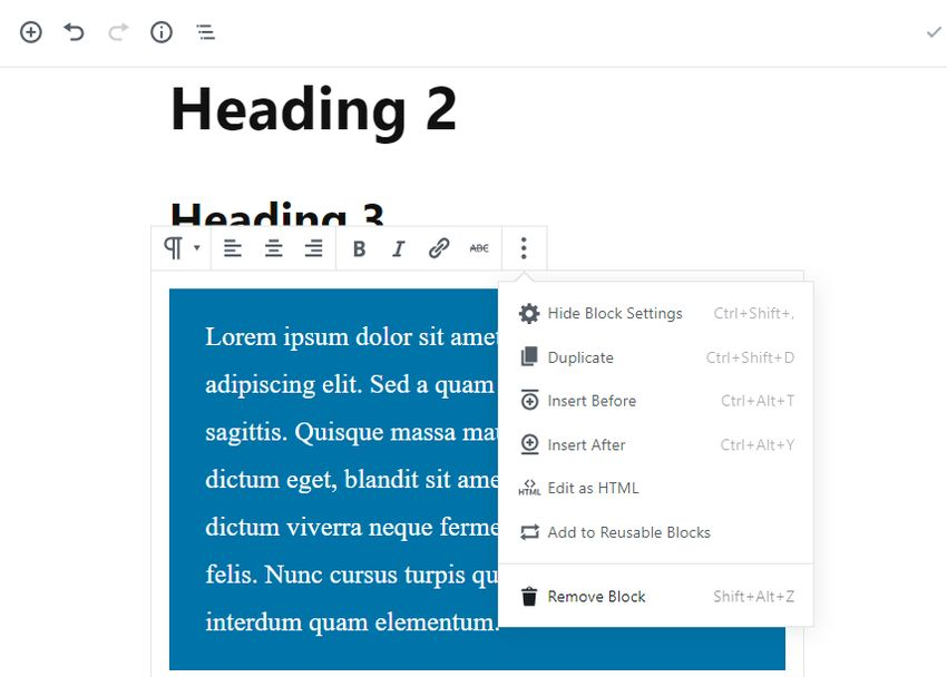Gutenberg Review - How to Delete a Block