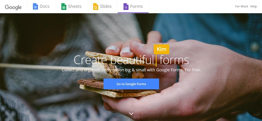 Google Forms Homepage