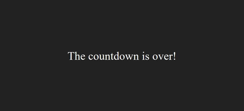 JavaScript Countdown Timer Off