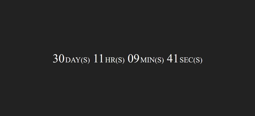 JavaScript Countdown Timer On