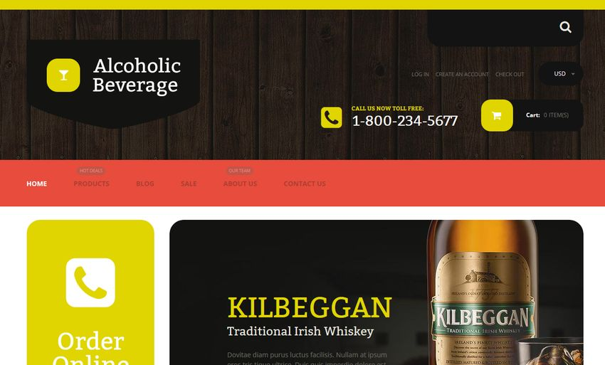 Alcoholic Beverage Store for Shopify Stores