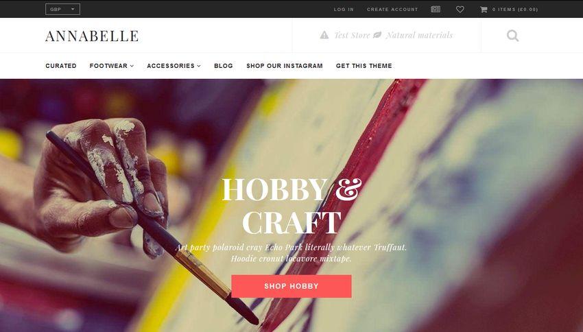 Annabelle Free Shopify Theme