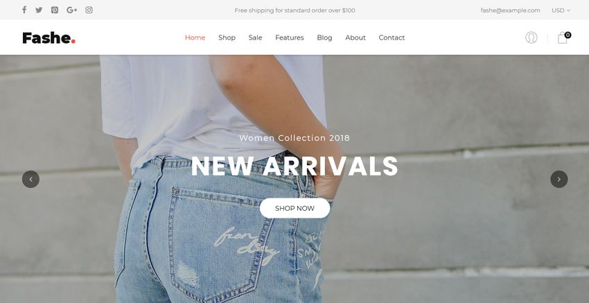 Fashe Free Shopify Template