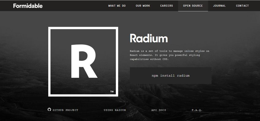 Radium CSS in JS Library