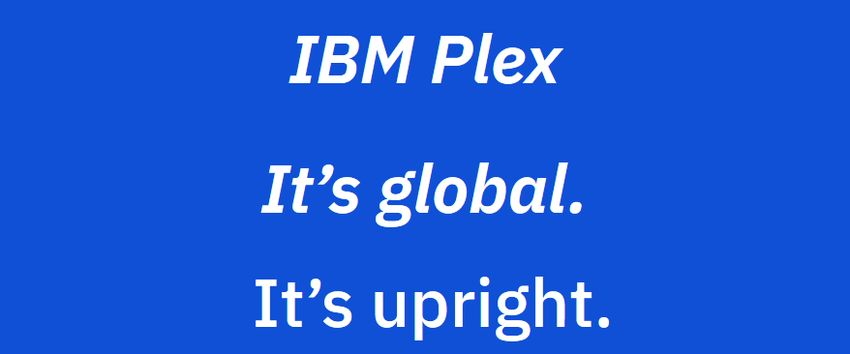 IBM Plex Variable Fonts