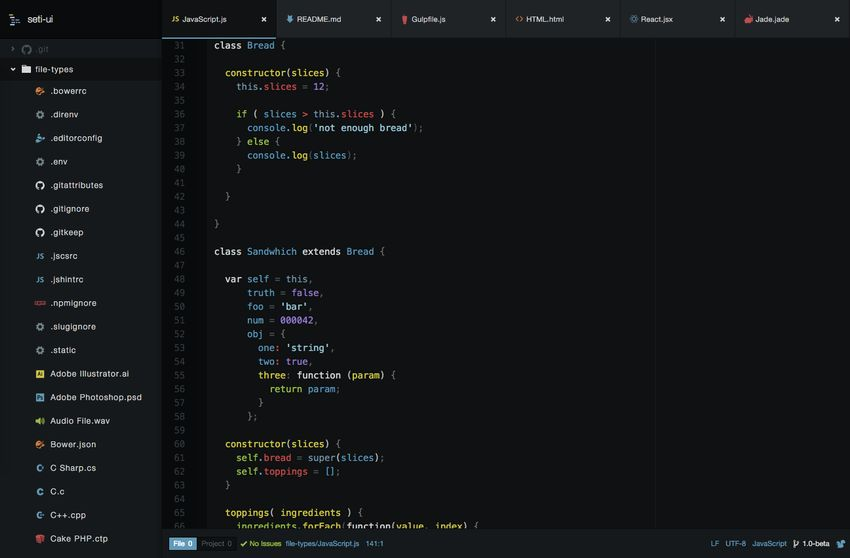 Seti UI Theme for Atom