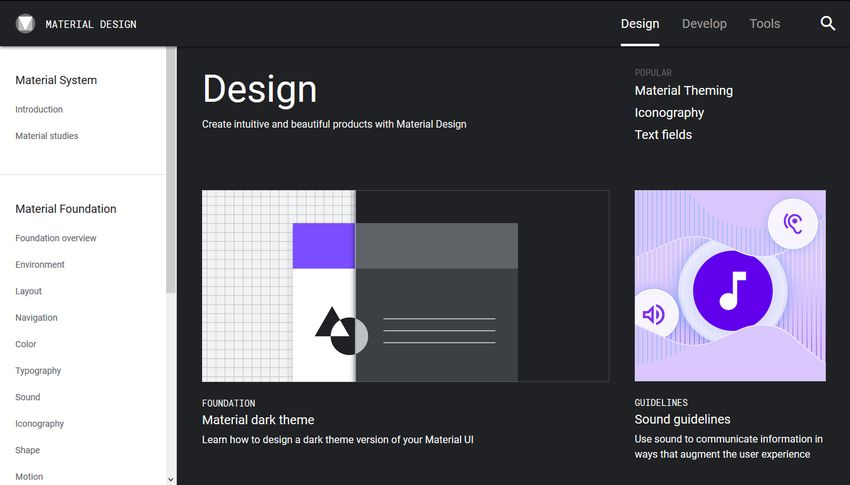 Google's Material Design guidelines