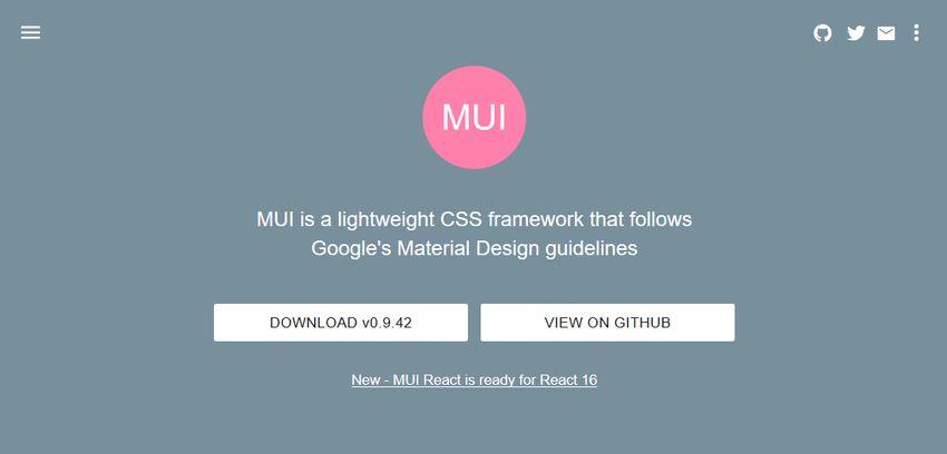 MUI CSS UI comonent library