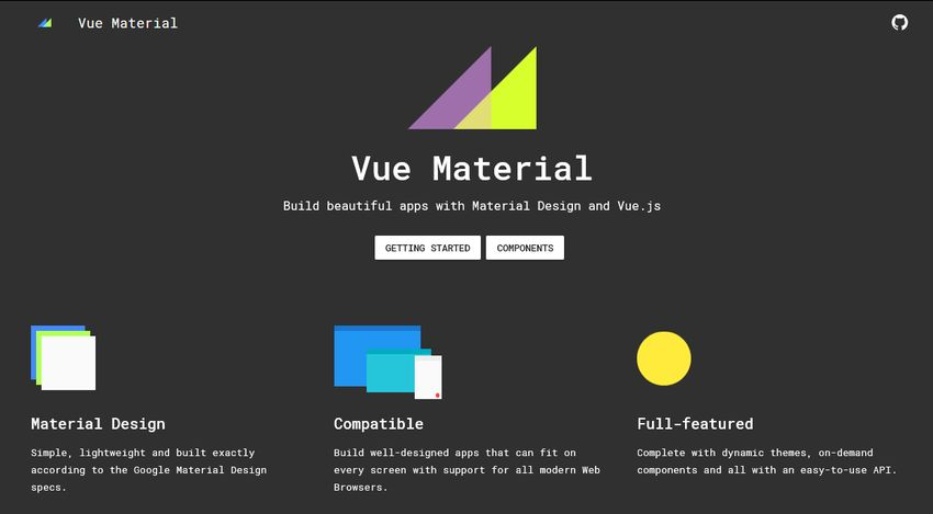 Vue Material UI Component Library