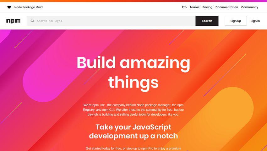 npm build tool